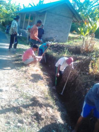 Tahap Awal Penyenderan dekat lapangan Volly Banjar Dinas Delod Margi